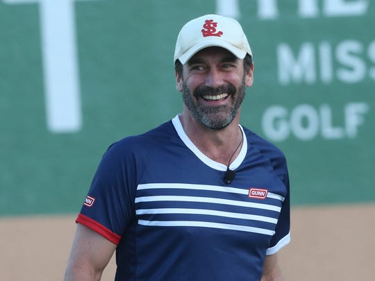 Jon Hamm at the 2017 Desert Smash charity celebrity tennis event at Westin Mission Hills Golf Resort and Spa on March 7, 2017.