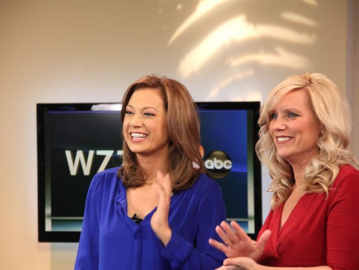Ginger Zee visits WZZM 13. (March 28, 2014)