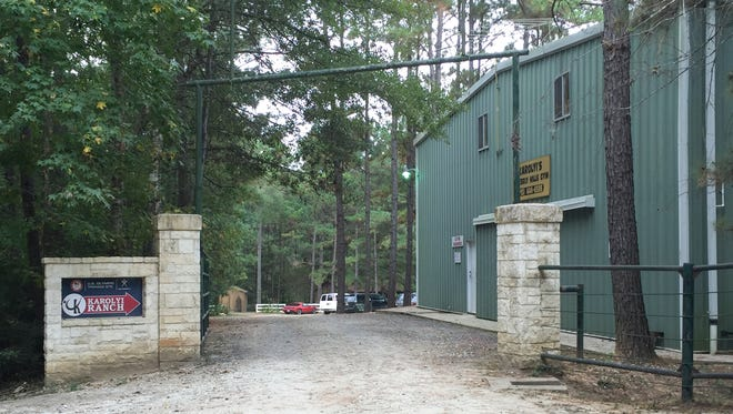 View of the Waverly Hills Gym, at the Karolyi Ranch, near Huntsville, Texas, Thursday, Oct. 20, 2016.