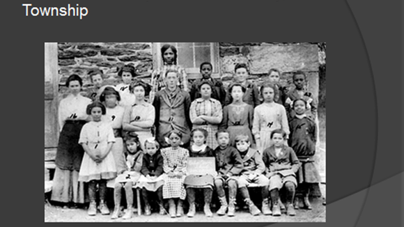 This is an interesting photo showing an integrated one-room school years before Brown V. Board of Education.