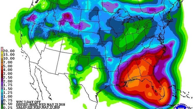 Current forecasts call for plenty of rain over Memorial Day Weekend.