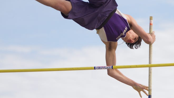 Fowlerville's Dalton Sweet is tied for the third seed in the pole vault for the state Division 2 track and field meet.