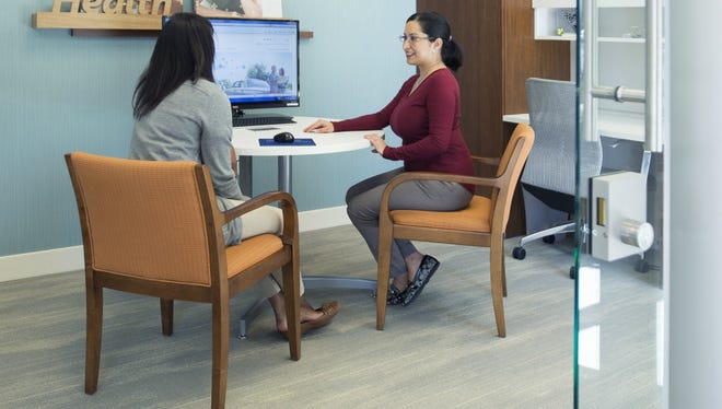 Advisors provide one-on-one insurance service at the Blue of Tennessee Center at 100 Oaks.