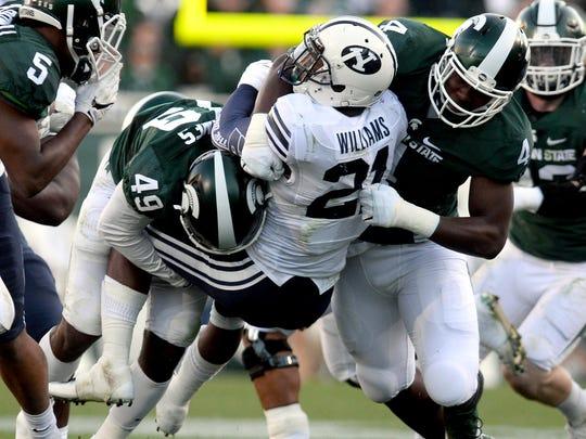 Michigan State University junior linebacker Shane Jones