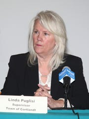 Linda Puglisi, Town of Cortlandt Supervisor takes part in an Indian Point forum on workforce transition at Desmond-Fish Library in Garrison on Friday, November 3, 2017.