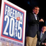 Republican Presidential candidate, Sen. Ted Cruz, R-Texas, speaks at the freedom 2015 national religious liberties conference Friday, Nov. 6, 2015.