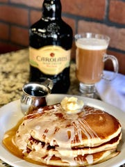 Pancakes can come doused in Irish cream at Perk Eatery.