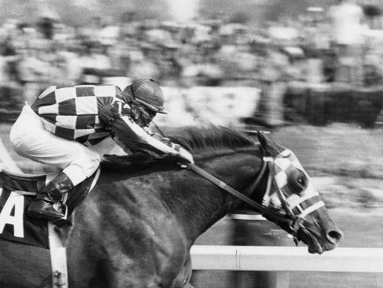 Secretariat winning the 1973 Kentucky Derby.