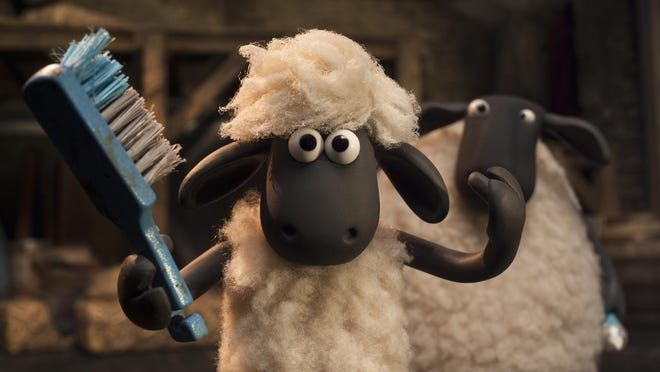 """Shaun tries to look his best in """"Shaun the Sheep."""""""