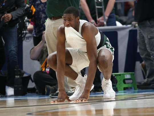 Jaren Jackson Jr. reacts to the 55-53 loss to Syracuse.