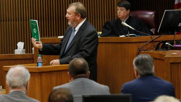 Alabama Acting Attorney General Van Davis gives closing