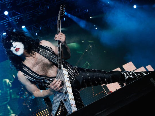 Paul Stanley of Kiss performs in London.