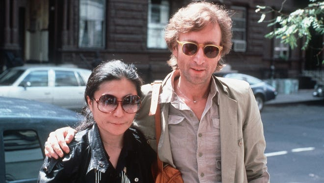 John Lennon with Yoko Ono in August 1980. KUTX's Jody Denberg will celebrate Lennon's 80th birthday with a four-hour radio special at noon on Friday.