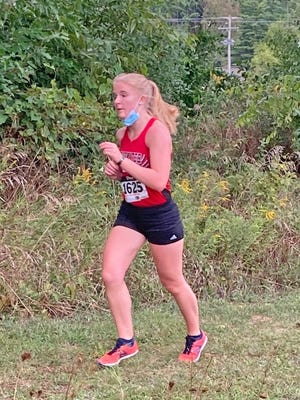 Coldwater's Kyler Galena led the Lady Cardinal effort Tuesday night with a seventh place finish.