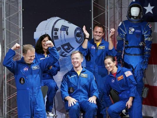 Nicole Mann,Christopher Ferguson,Eric Boe,Josh Cassada,Sunita Williams