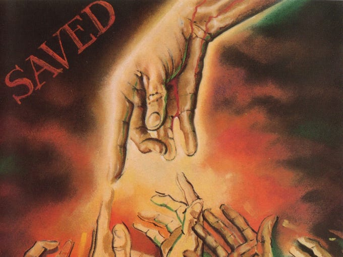 "Bob Dylan's 1980 album, ""Saved."""