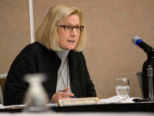 Michigan Board of State Canvasser Colleen Pero questions