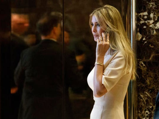 "FILE - In this Nov. 11, 2016 file photo, Ivanka Trump, daughter of President-elect Donald Trump, arrives at Trump Tower in New York. Nordstrom shares sunk after President Trump tweeted that the department store chain had treated his daughter ""so unfairly"" when it announced last week that it would stop selling Ivanka Trump's clothing and accessory line."