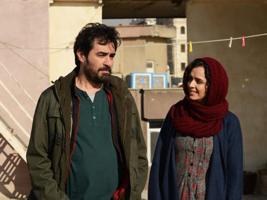 """This image released by Cohen Media group shows Shahab Hosseini, left, and Taraneh Alidoosti in a scene from """"The Salesman."""" The film is nominated for an Oscar for best foreign language film. The 89th Academy Awards will take place on Feb. 26."""