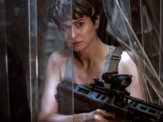 """This image released by Twentieth Century Fox shows Katherine Waterston in a scene from """"Alien: Covenant,"""" in theaters on May 19. Almost 40 years after """"Alien"""" shocked audiences, filmmaker Ridley Scott is returning to the well that made him a star director with a new terrifying installment, """"Alien: Covenant."""""""