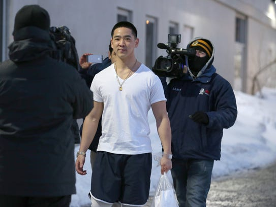 Charles Tan leaves Monroe County Jail on March 5, 2015.