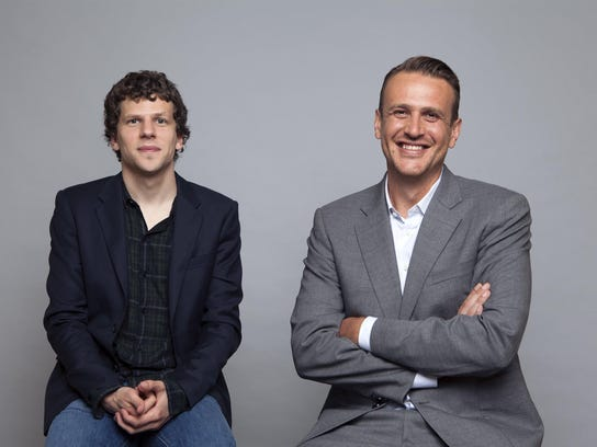 "Jesse Eisenberg, left, and Jason Segel star in ""The"