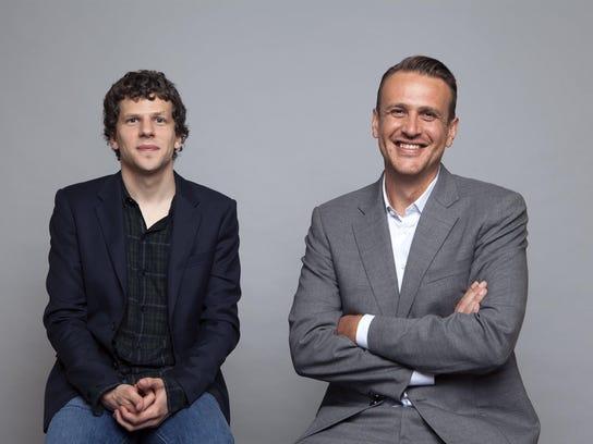"Jesse Eisenberg, left, and Jason Segel star in ""The"