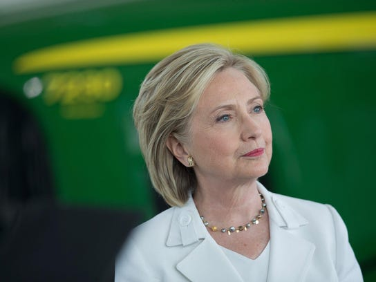 Democratic Presidential candidate and former U.S. Secretary of State Hillary Clinton Campaigns In Iowa