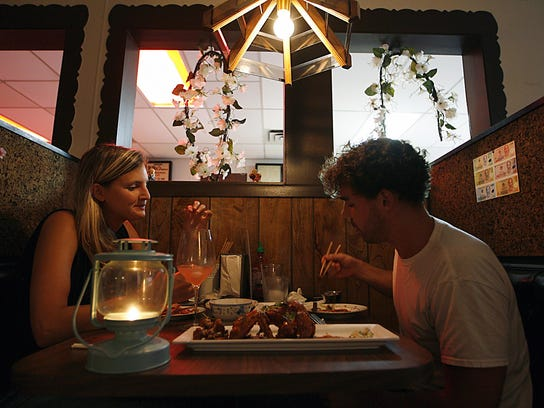 Jodi Mrosko and Michael Harakas dine at the spot that's