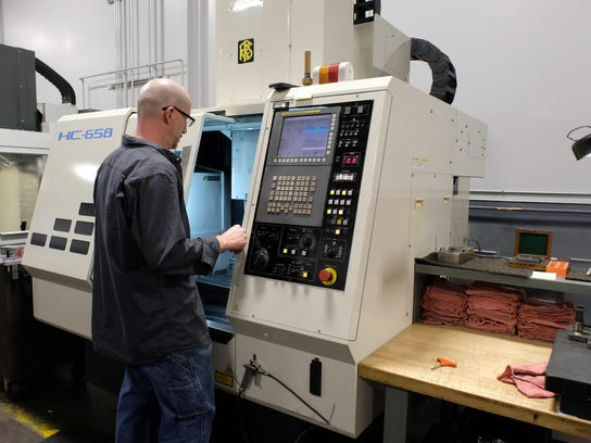 Wayne Donnelly works in the tool room at Empire Precision