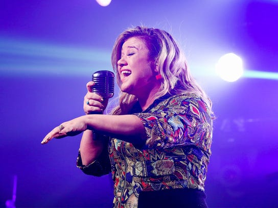 Kelly Clarkson performs at iHeartRadio Theater on March