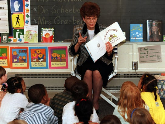 Lt. Governor Joy Corning reads The Little House book