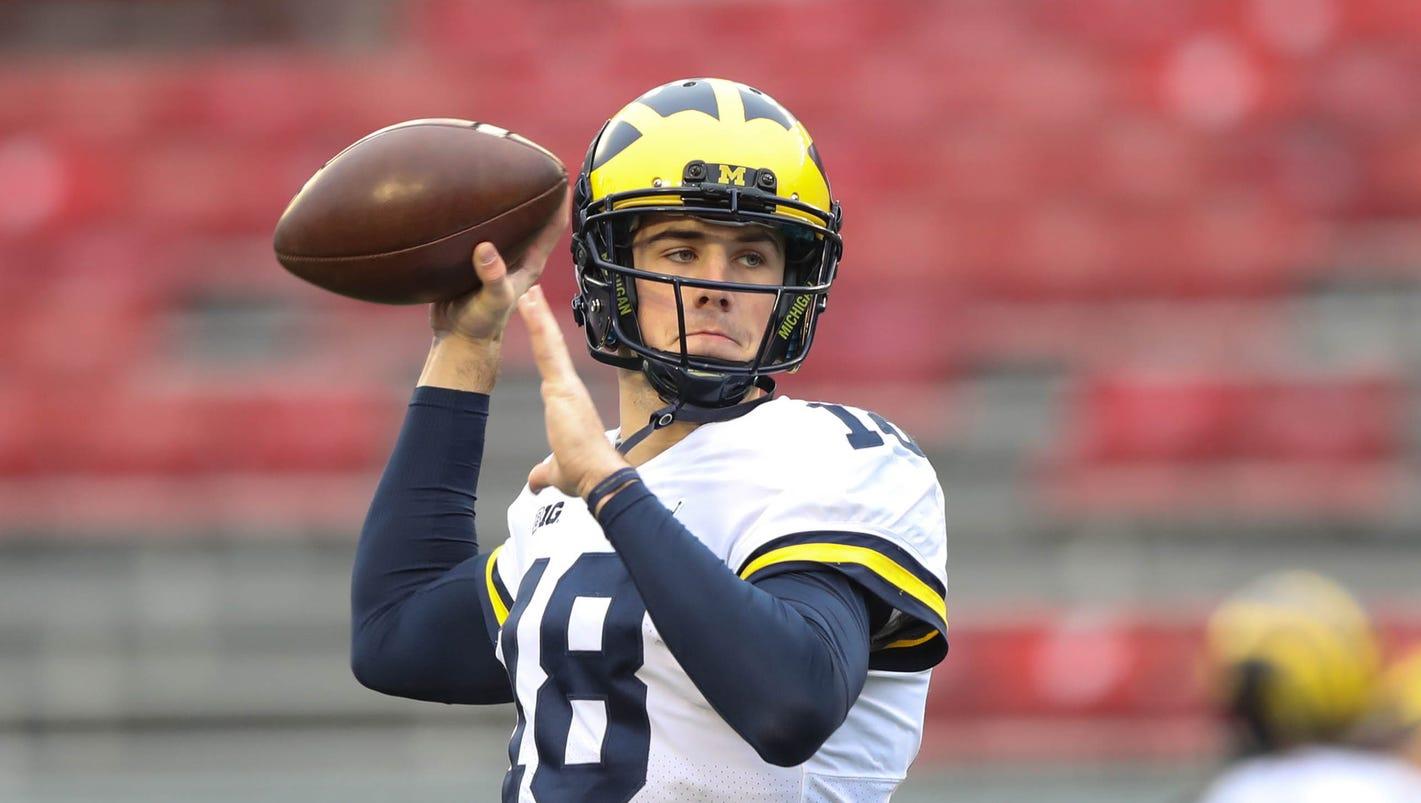 Michigan quarterbacks Brandon Peters, Wilton Speight not in uniform vs. Ohio State