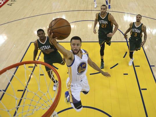 USP NBA: PLAYOFFS-UTAH JAZZ AT GOLDEN STATE WARRIO S BKN GSW UTA USA CA