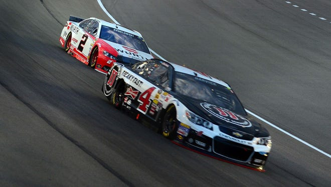 Kevin Harvick (4) and Brad Keselowski (2) suffered major setbacks at last Sunday at Martinsville Speedway.