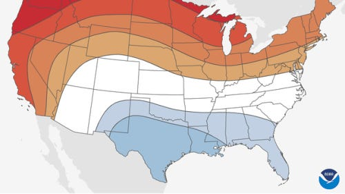 It may be warmer than normal in New Jersey this winter (December through February).