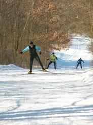 Cross-country skiing trails are available at Lapham Peak State Park in Delafield once enough snow is on the ground.