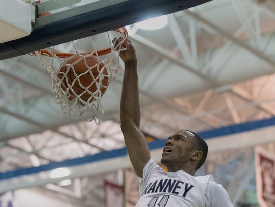 Ranney's Scottie Lewis slams one home during second