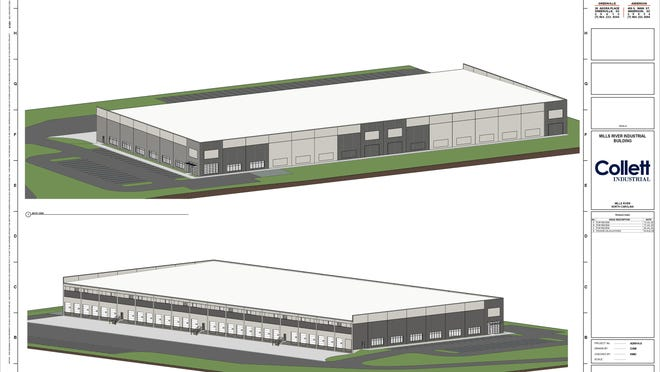 Rendering for a Lowe's distribution center planned in Mills River on Banner Farm Road.