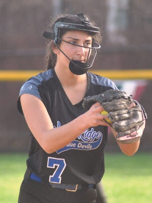 Wood-Ridge pitcher Brianna McKhann is one of the few seniors on the Lady Blue Devils' roster.