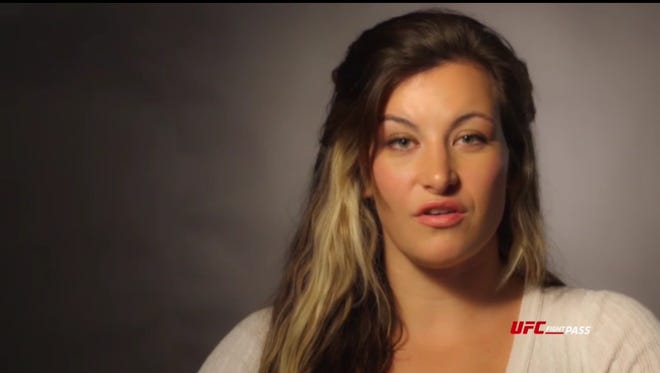 A screen shot from the UFC Fight Pass app from the original series episode 'Fightography: Miesha Tate.'