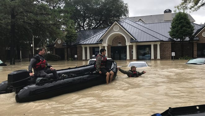 The El Paso Fire Department's Water Rescue Team was among several area first responders deployed to assist in recovery efforts in the Houston area after Hurricane Harvey struck.