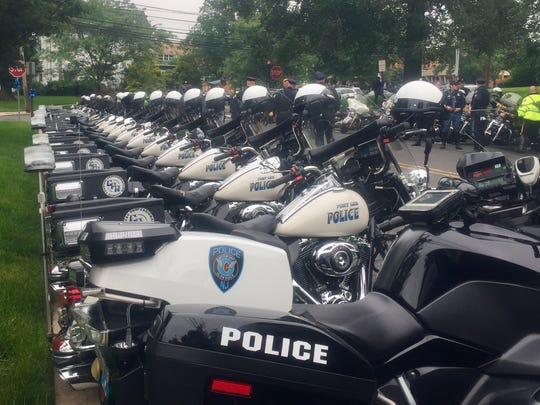 Hundreds of New Jersey police officers attended the