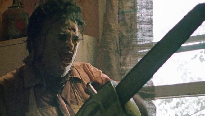 """Leatherface from 1974's """"Texas Chainsaw Massacre"""" is one of the classic horror villains."""