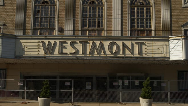 The Westmont Theatre marquee is seen, Friday, May 12, 2006 in Camden.
