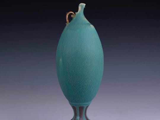 Ceramic vessel by Ryan Pederson of Ephraim Clayworks, one of the sites on the Door County Potters' Guild Studio Tour on May 6-7.
