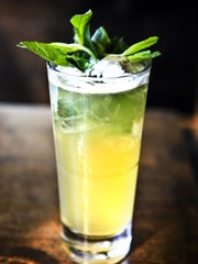 Mint Julep Lemonade will up your beverage game at a tailgate party.