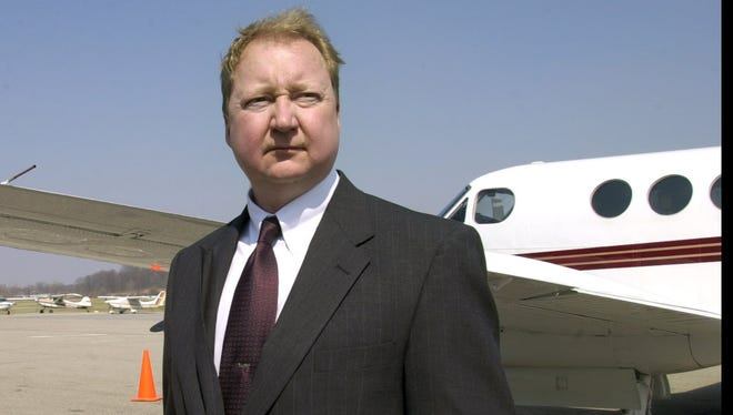 Ron Davis, former administrator for the Butler County Regional Airport, is pictured at the Hamilton facility in 2001.