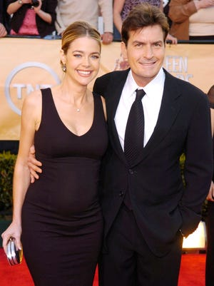 2005: Charlie Sheen and Denise Richards in happier times.