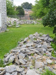 Two donations of limestone for future restoration at Light's Fort came from concerned area citizens in Lebanon County.